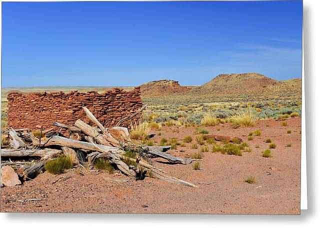 Old Village Greeting Cards - Homolovi Ruins State Park Arizona Greeting Card by Christine Till