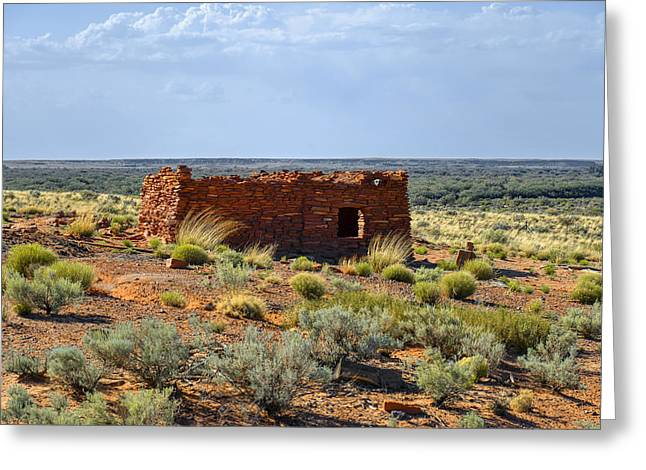 Grassland Greeting Cards - Homolovi Ruins State Park AZ Greeting Card by Christine Till