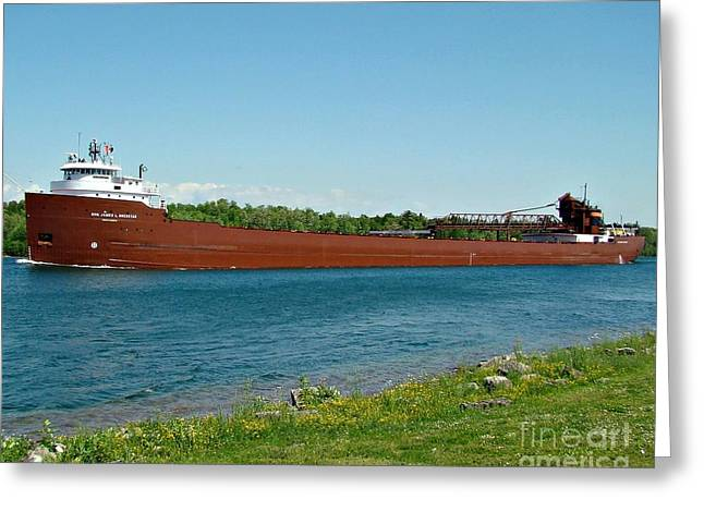Recently Sold -  - Water Vessels Greeting Cards - Hon. James L Oberstar Greeting Card by Tom Geiger