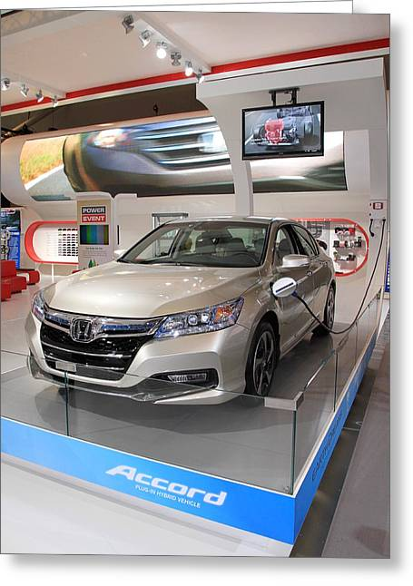 Recharge Greeting Cards - Honda Accord Greeting Card by Valentino Visentini