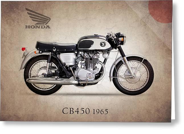 Honda Greeting Cards - Honda CB450 1965 Greeting Card by Mark Rogan