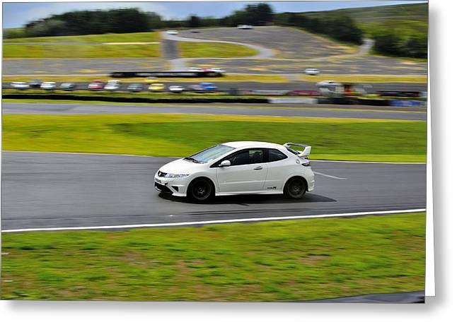 Prodrive Greeting Cards - Honda Civic Type-R Greeting Card by Phil Kellett