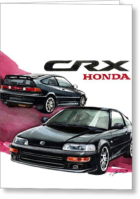 2nd Greeting Cards - Honda CRX Greeting Card by Yoshiharu Miyakawa