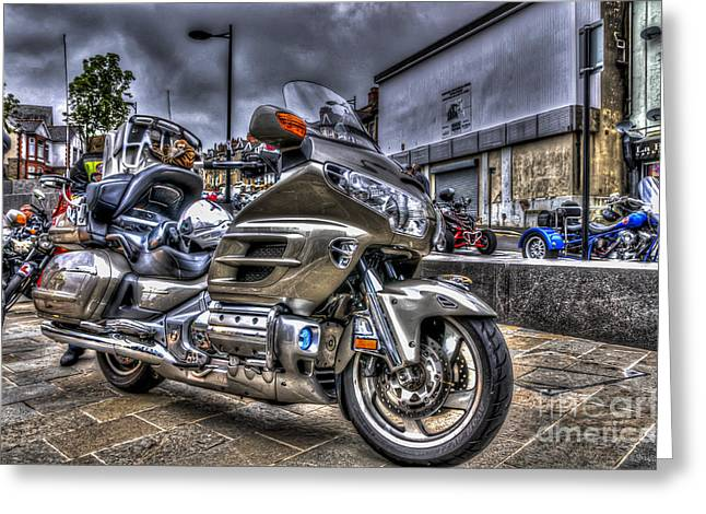 Recently Sold -  - Rally Greeting Cards - Honda Goldwing 2 Greeting Card by Steve Purnell