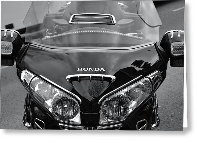 Motorcycles Pyrography Greeting Cards - Honda Greeting Card by Jason Moss