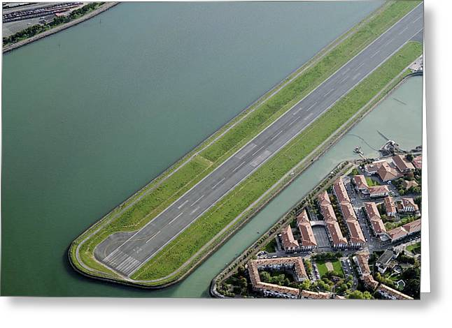 Industrial Concept Greeting Cards - Hondarribia Airport Greeting Card by Blom ASA
