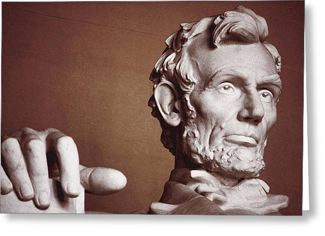 Marble Eye Greeting Cards - Honest Abe Greeting Card by Jame Hayes