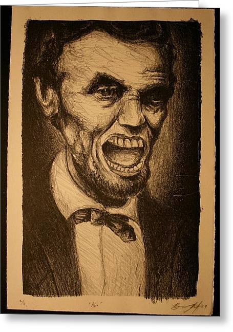 Abe Drawings Greeting Cards - Honestly Greeting Card by Brian Lutz