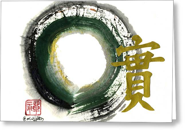 Mind-body-spirit Greeting Cards - Honesty - Enso Greeting Card by Ellen Miffitt