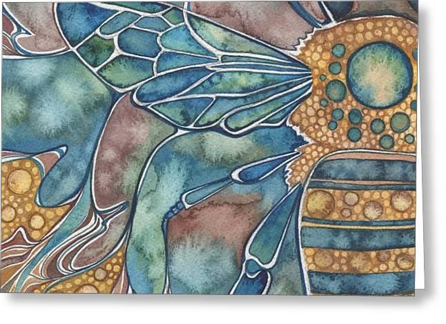 Honey Bee Greeting Card by Tamara Phillips