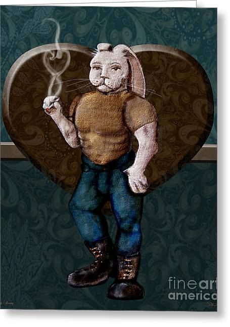 Bad Ass Digital Art Greeting Cards - Honey Bunny Greeting Card by Dia T