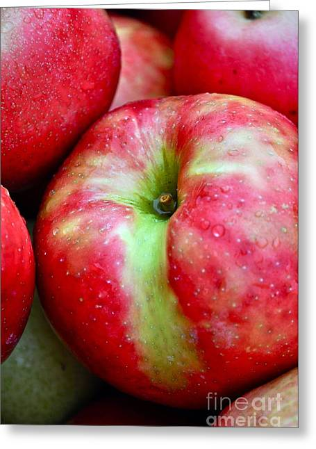 Crisp Greeting Cards - Honey Crisp Apples Greeting Card by Gwyn Newcombe
