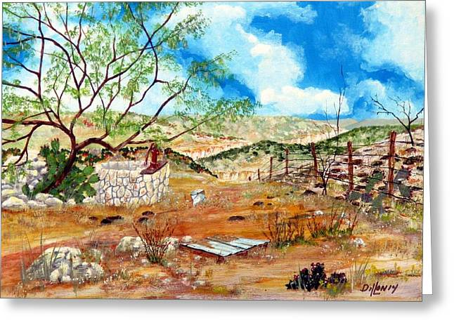 Featured Art Greeting Cards - Texas Southwest Honey Tree Greeting Card by Michael Dillon
