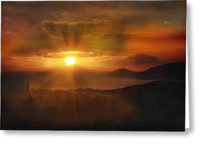 Antigua Greeting Cards - Honeymoon Sunset Greeting Card by Jason Green
