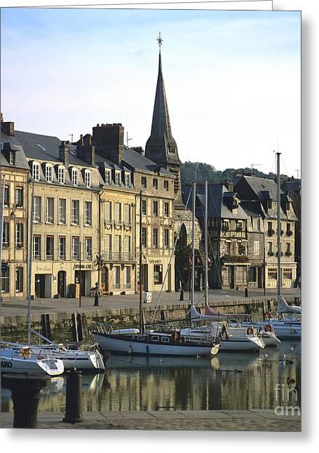 Calvados Greeting Cards - Honfleur Harbour. Calvados. Normandy. France. Europe Greeting Card by Bernard Jaubert