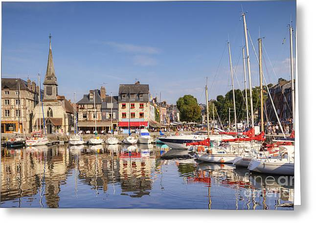 Honfleur Normandy France Greeting Card by Colin and Linda McKie