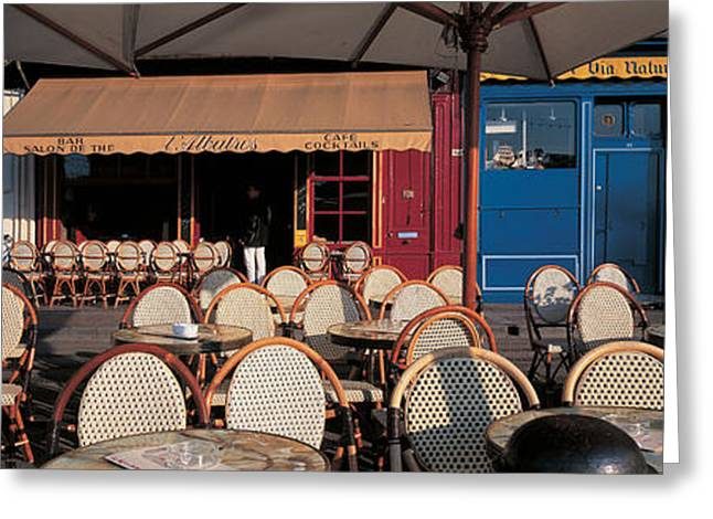 Empty Chairs Photographs Greeting Cards - Honfleur Normandy France Greeting Card by Panoramic Images