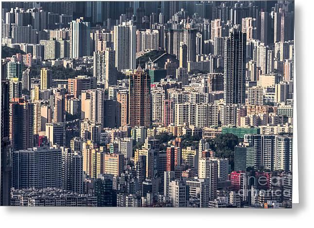 Kowloon Greeting Cards - Hong Kong 12 Greeting Card by Tom Uhlenberg