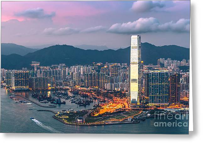Kowloon Greeting Cards - Hong Kong 17 Greeting Card by Tom Uhlenberg