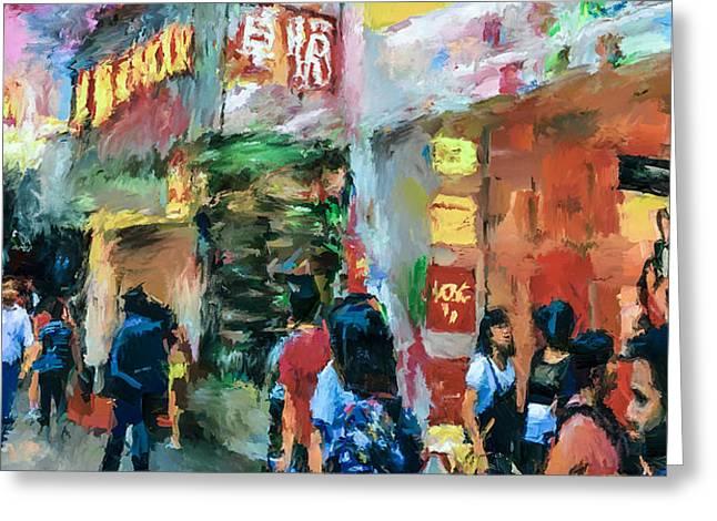 Hong Kong Around Nathan Road Greeting Card by Yury Malkov