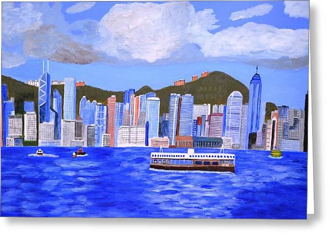 Hong Kong Greeting Card by Magdalena Frohnsdorff