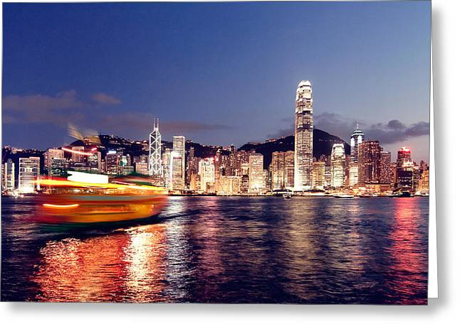 Matsu Greeting Cards - Hongkong on clear day Greeting Card by Hakai Matsu