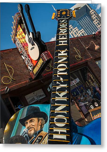 Nashville Tennessee Greeting Cards - Honky-Tonk Heroes Greeting Card by Glenn DiPaola