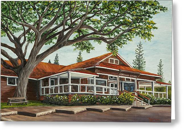 Honolua Store Greeting Card by Darice Machel McGuire