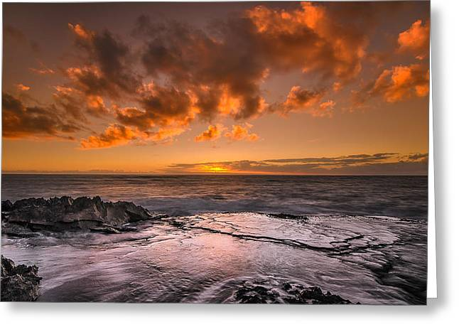 Koolina Greeting Cards - Honolulu sunset at Koolina Resort Greeting Card by Tin Lung Chao