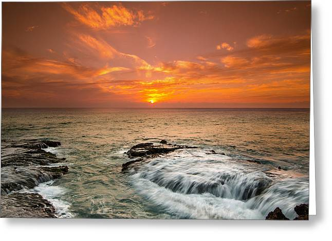 Koolina Greeting Cards - Honolulu sunset Greeting Card by Tin Lung Chao