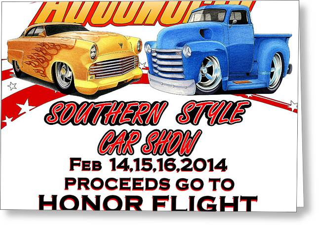 Fund Raiser Greeting Cards - Honor Flight SC Greeting Card by Lyle Brown
