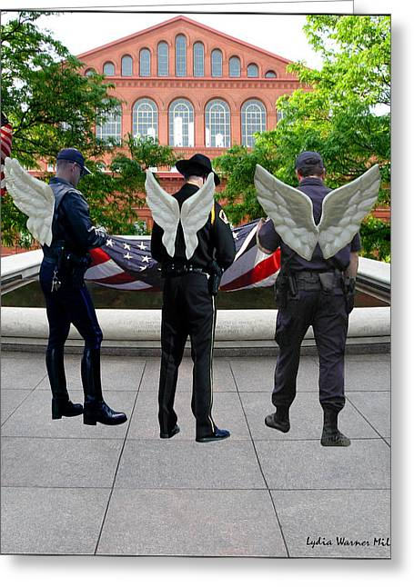 Lydia Miller Greeting Cards - Honor Guard Duty Greeting Card by Lydia Warner Miller