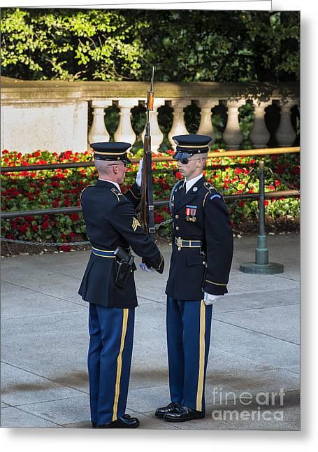 Honor Guard Inspection Greeting Card by John Greim