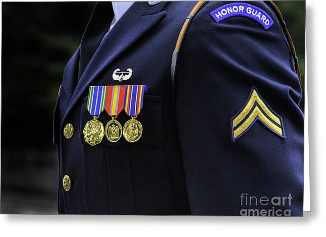 Honor Guard Greeting Card by Jerry Fornarotto
