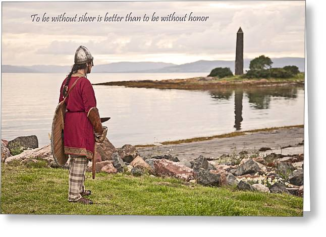 Scotland Greeting Cards - Honor Greeting Card by Liz Leyden