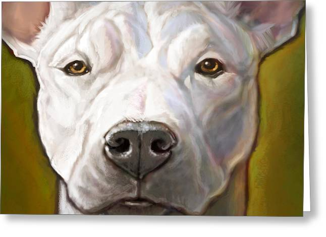 White Dog Greeting Cards - Honor Greeting Card by Sean ODaniels