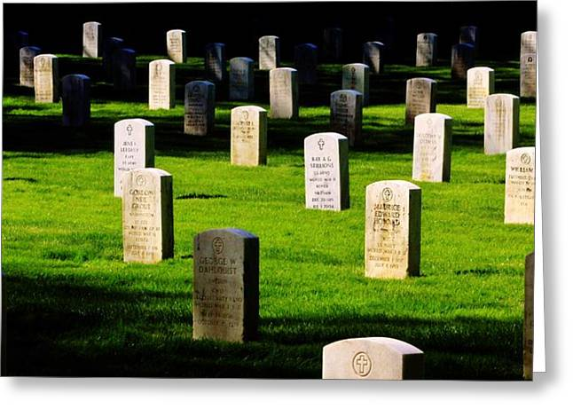 Headstones Greeting Cards - Honor the Fallen Greeting Card by Benjamin Yeager