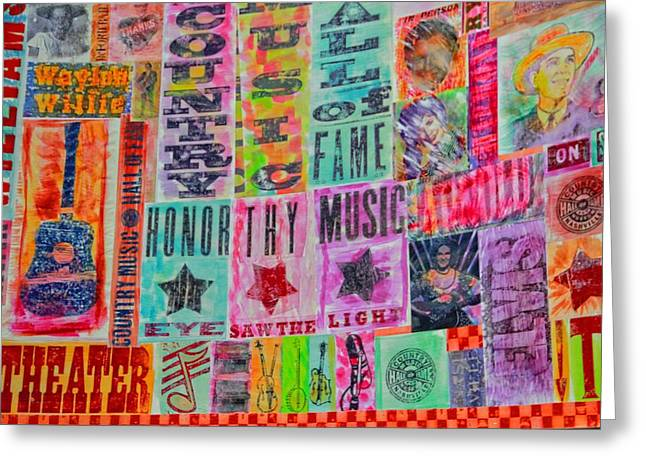 Colorful Quilts Greeting Cards - Honor Thy Music Blanket Greeting Card by Dan Sproul