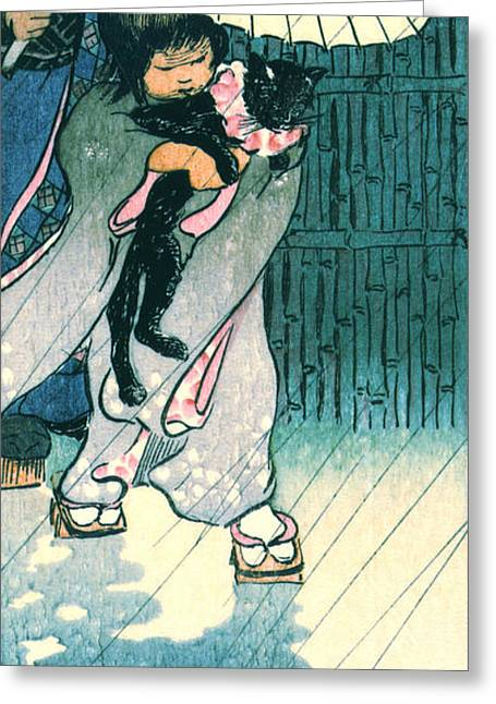 Recently Sold -  - Bamboo Fence Greeting Cards - Honorable Mr. Cat 1903 Greeting Card by Padre Art
