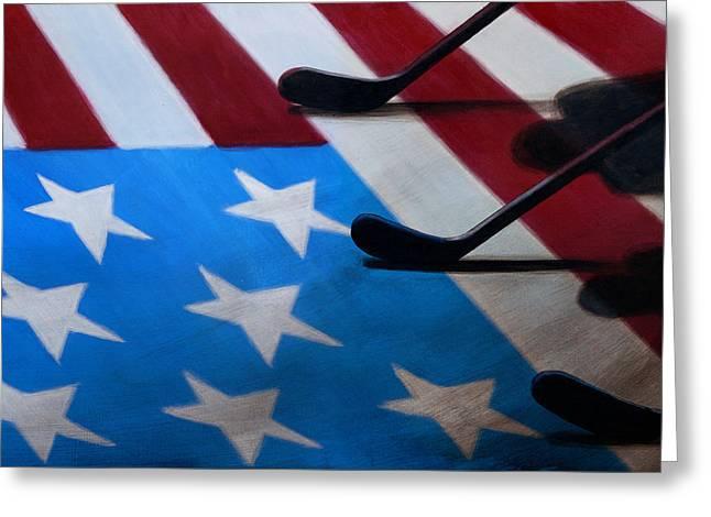 Honoring America Greeting Card by Marlon Huynh