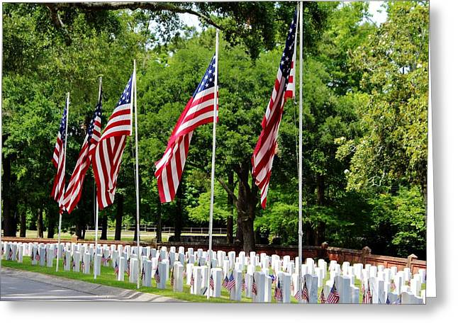 Civil Greeting Cards - Honoring Those Who Served Greeting Card by Cynthia Guinn