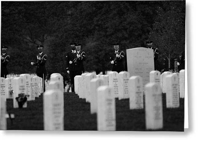 Famous Airmen Greeting Cards - Honors For A Fallen Comrade  Greeting Card by Mountain Dreams