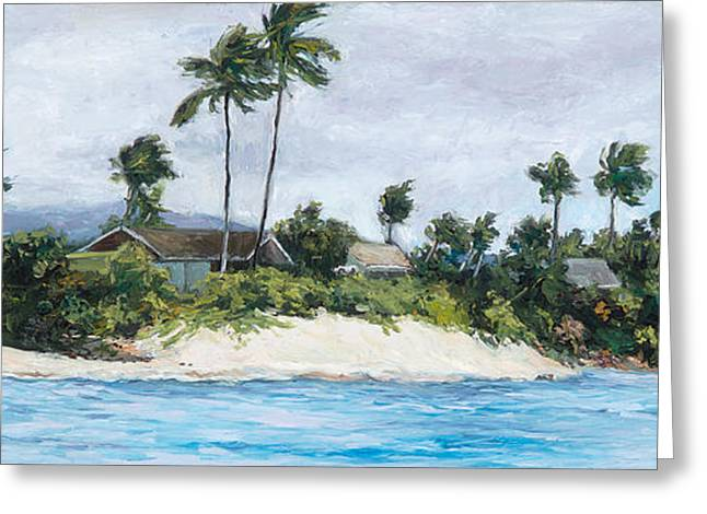 Honu's View Greeting Card by Stacy Vosberg