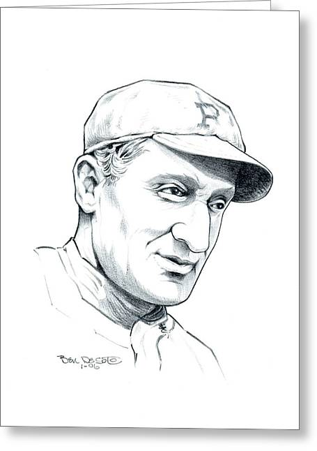 Honus Wagner Greeting Cards - Honus Wagner Greeting Card by Ben De Soto