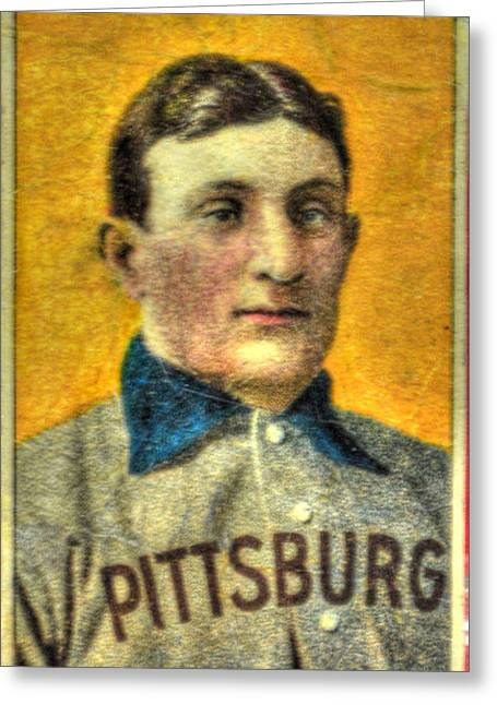 Honus Wagner Greeting Cards - Honus Wagner Card Greeting Card by Tommy Anderson