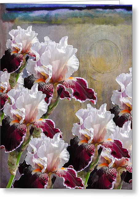 Iris Digital Art Greeting Cards - Hood Canal Iris Greeting Card by Jeff Burgess