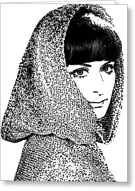 Creative Manipulation Photographs Greeting Cards - Hooded Woman Greeting Card by Andrew Govan Dantzler