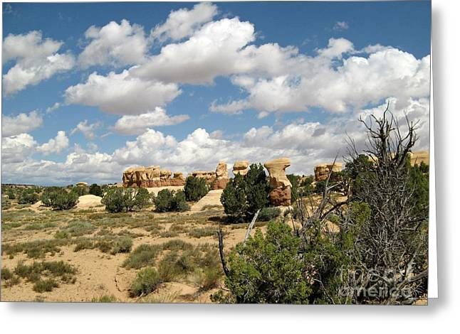 The Plateaus Greeting Cards - Devils Garden - Hoodoo Community Greeting Card by Sheryl Young
