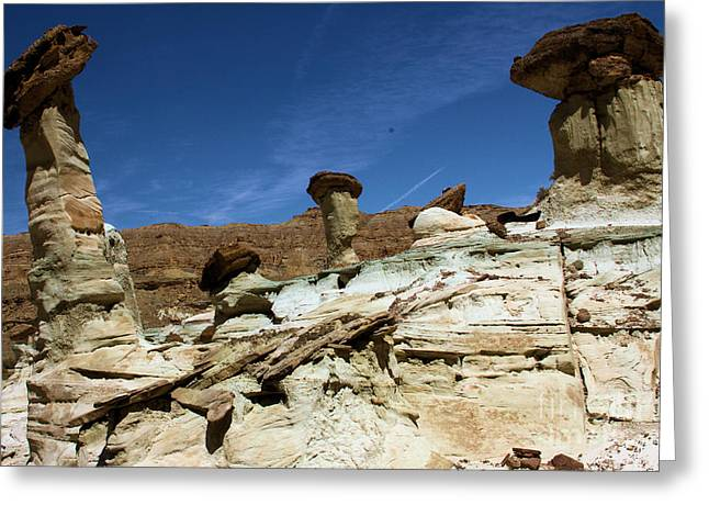 Wahweap Greeting Cards - Hoodoo Trio Greeting Card by Adam Jewell