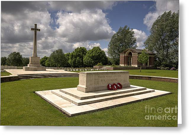 Ypres Greeting Cards - Hooge Cemetery  Greeting Card by Rob Hawkins